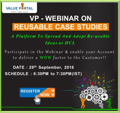 Value Portal - Webinar on Reusable VP Case Studies - September'16