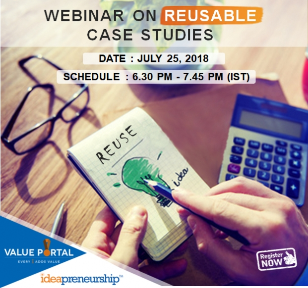 Webinar on Reusable Value Creation Case studies - July 25, 2018